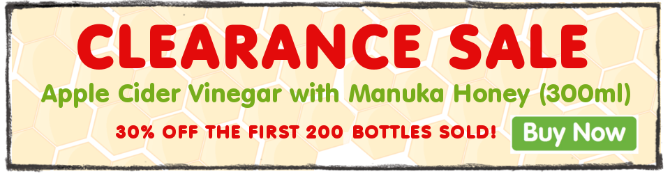 300ml Apple Cider Vinegar with Raw Manuka Honey